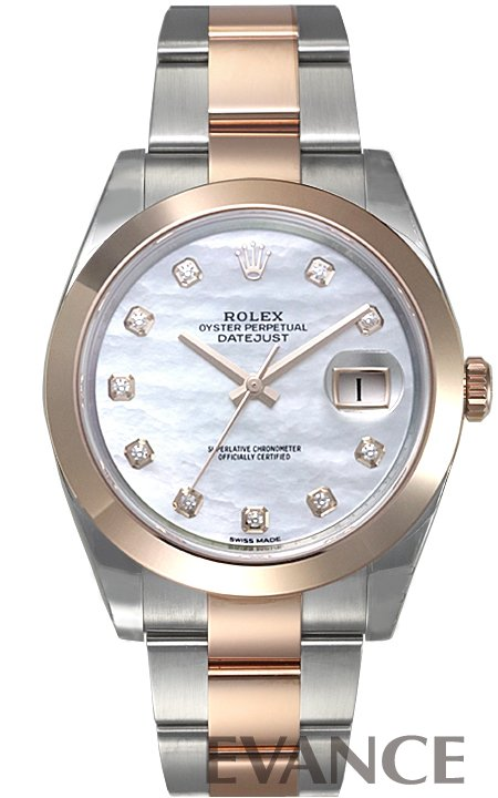 ロレックス デイトジャスト41 PGコンビ 126301G ホワイトマザーオブパール メンズ ROLEX 【新品】【腕時計】
