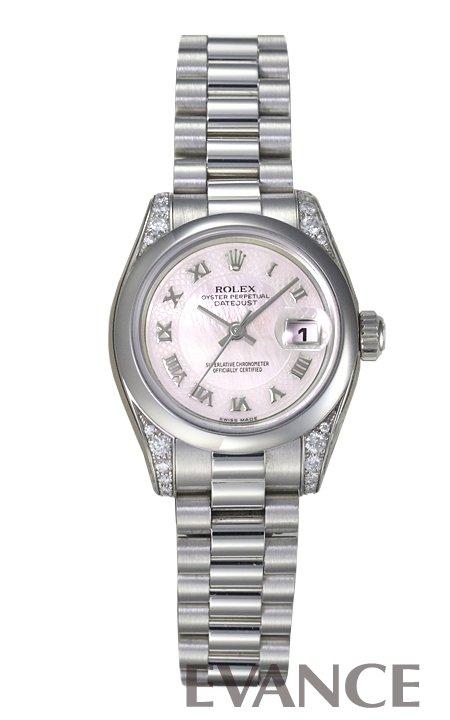 ロレックス デイトジャスト 179296 ピンク マザーオブパール レディース ROLEX 【新品】【腕時計】
