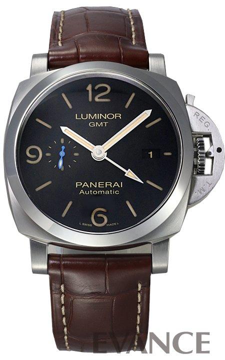 パネライ ルミノール 1950 3デイズ GMT PAM01320 ブラック メンズ PANERAI 【新品】【腕時計】