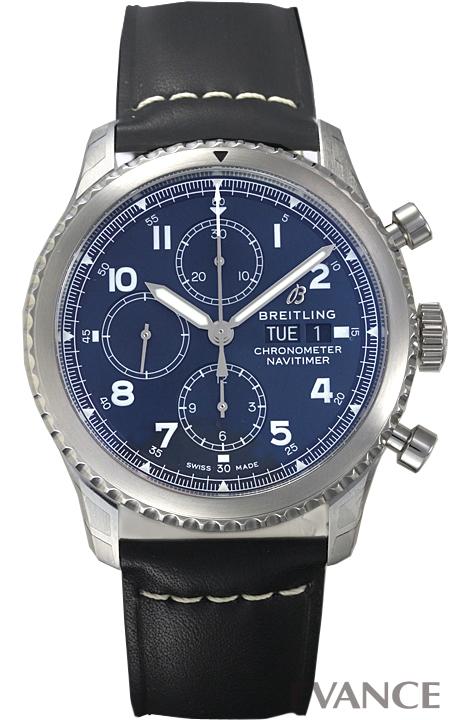 ブライトリング ナビタイマー 8 クロノグラフ 43 A118C-1LBA ブルー メンズ BREITLING 【新品】【腕時計】