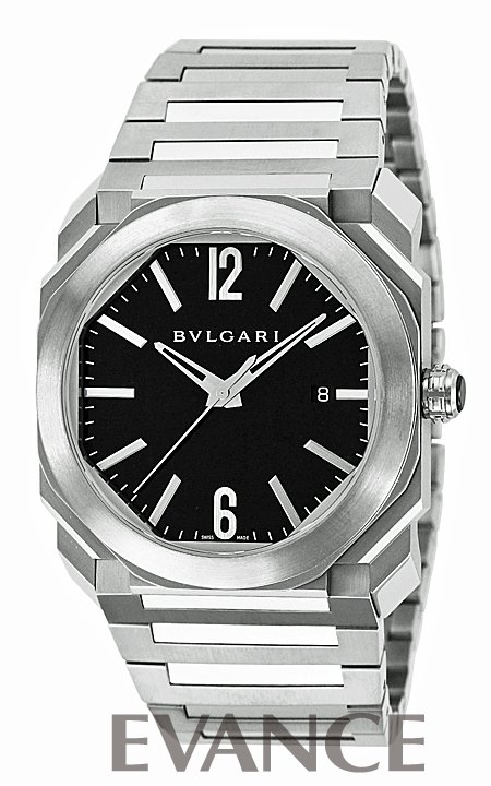 ブルガリ オクト BGO41BSSD ブラック メンズ BVLGARI 【新品】【腕時計】 時計 エバンス 父の日 プレゼント ギフト
