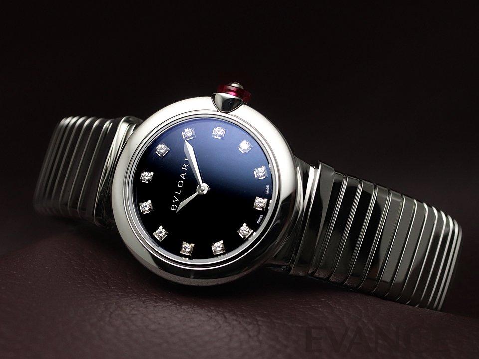 ブルガリ ルチェア トゥボガス LU28BSS/12.T ブラック レディース BVLGARI 【新品】【腕時計】