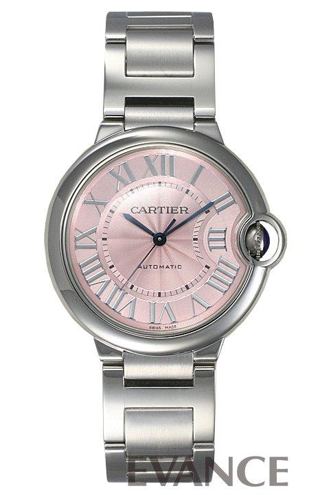 カルティエ バロンブルー MM W6920041 ピンク ローマ CARTIER 【新品】【腕時計】
