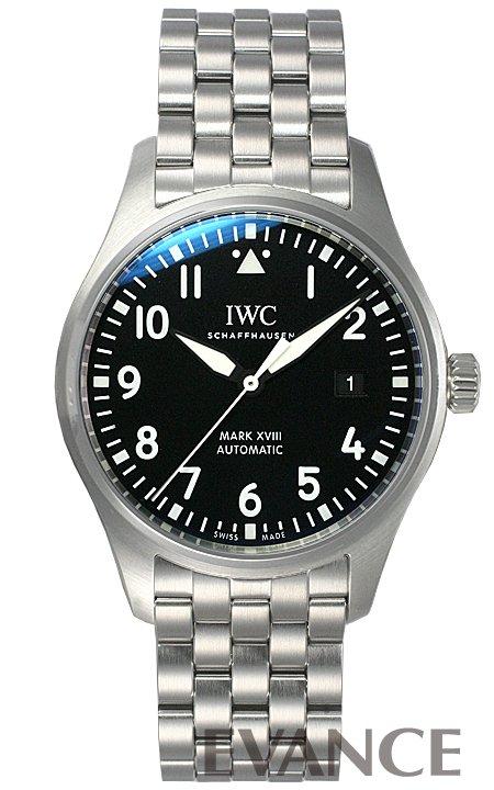 IWC パイロットウォッチ マークXVIII IW327015 ブラック メンズ 【新品】【腕時計】 エバンス