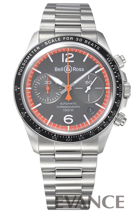 ベル&ロス BR V2-94 ガードコート BRV2-94-ORA-ST/SST グレー メンズ BELL & ROSS 【新品】【腕時計】