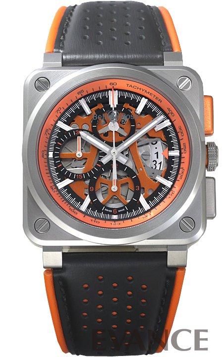 ベル&ロス BR03-97 エアロ GT オレンジ BR03-94-SC-ORA/SCA スケルトン メンズ BELL & ROSS 【新品】【腕時計】