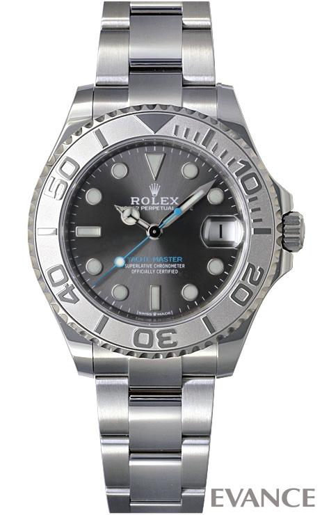 ロレックス ヨットマスター37 268622 ダークロジウム メンズ ROLEX 【未使用品】【腕時計】 エバンス