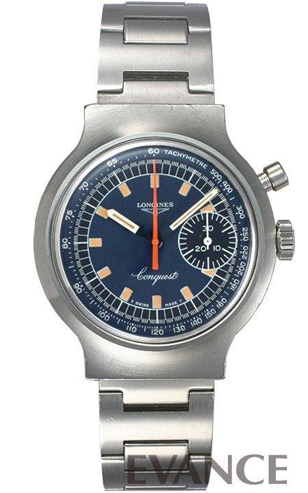 ロンジン コンクエスト ミュンヘンオリンピック記念 8614-1 ブルー 1970年代 メンズ LONGINES【アンティーク】【腕時計】