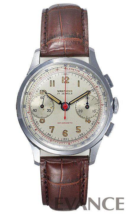 WAKMANN(ワックマン) 2レジスター クロノグラフ 1940年代 メンズ【アンティーク】【腕時計】