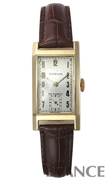 マーヴィン レクタンギュラー シルバー 1940年代 メンズ MARVIN 【アンティーク】【腕時計】