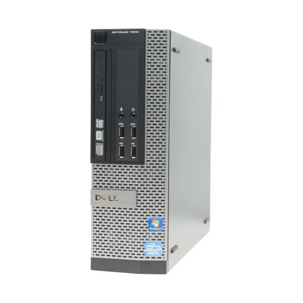 中古 パソコン ★ DELL Optiplex 7010SF 省スペース デスクトップ WPS Office付き Windows10 Home 【Core i3-3240/4GB/500GB/MULTI】
