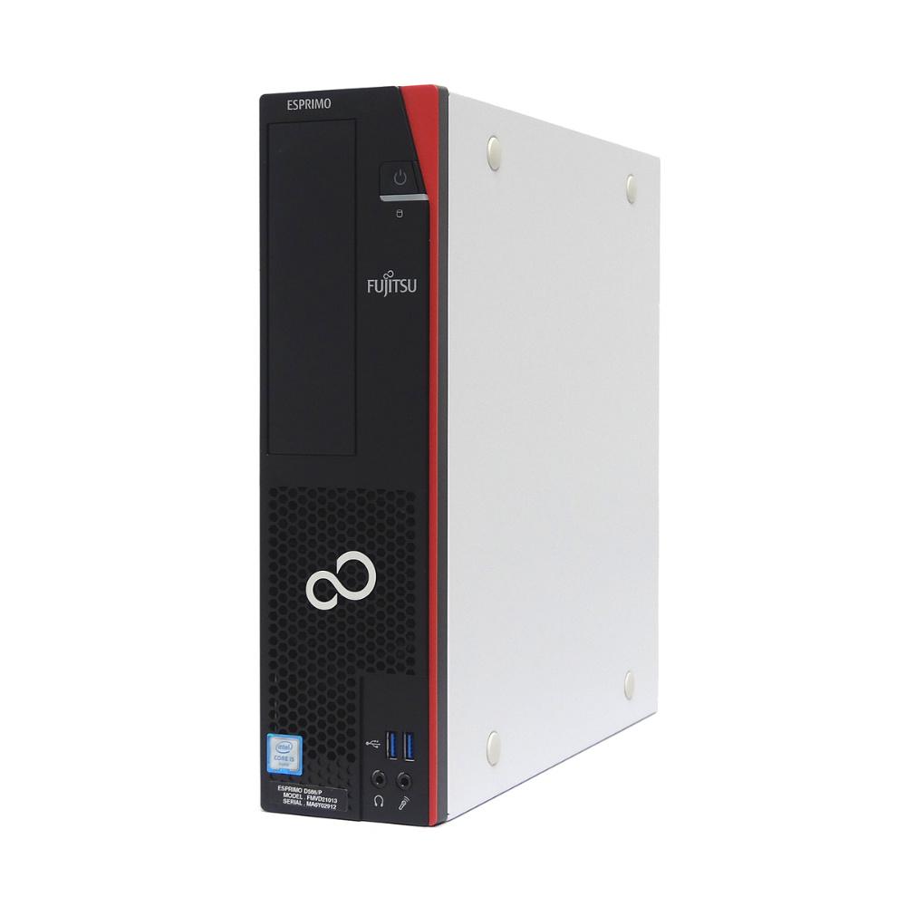 中古 パソコン ★ 富士通 ESPRIMO D586/P 省スペース デスクトップ 高性能 4コア 新品メモリ使用 WPS Office付き Windows10 Pro 【Core i5-6500/8GB/500GB/DVD】
