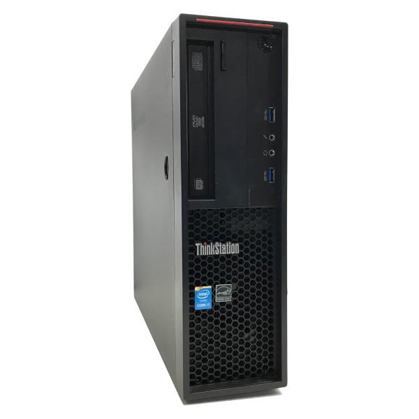 中古 パソコン ★ Lenovo ThinkStation P300 SFF 省スペース デスクトップ ワークステーション Quadro K620 WPS Office付き Windows10 Pro 【Core i7-4790/16GB/1TB SSHD/MULTI】