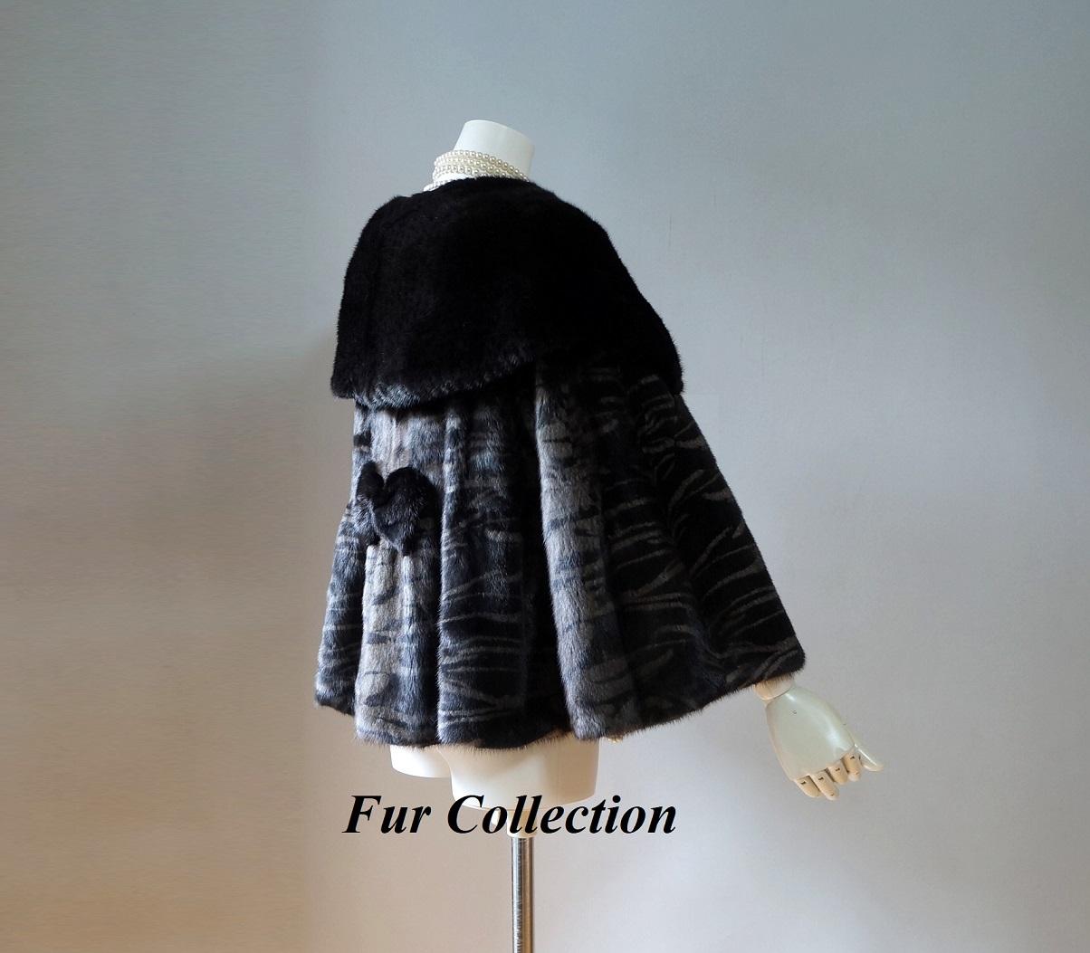 新品1点物処分毛皮コート レディース ダウンコート・チンチラコートお好きな方に ミンクのジャケット黒茶ブラウンブラック☆ミンクコートリアルファーコート・セーブル・フォックスストールシャネルグッチ・