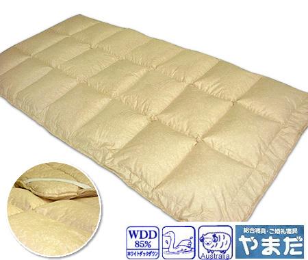 【エントリーで全品P5-15倍】羽毛入り羊毛ベッドパッド●ダブルサイズロング …送料無料…
