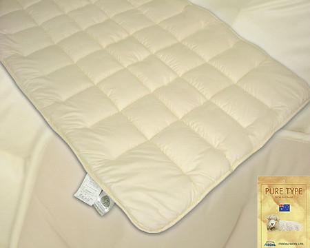 【エントリーで全品P5-15倍】アルティマニット使用ウール100%ベッドパッド●セミダブル …送料無料…