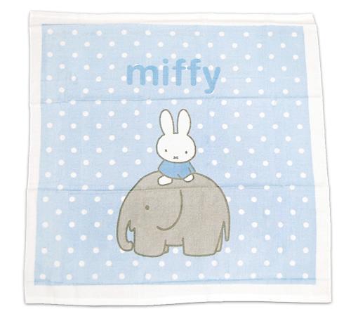 期間限定送料無料 サックスブルー即納 miffy ベビー湯上げタオル #ミッフィーBRエレファント 人気ブレゼント!