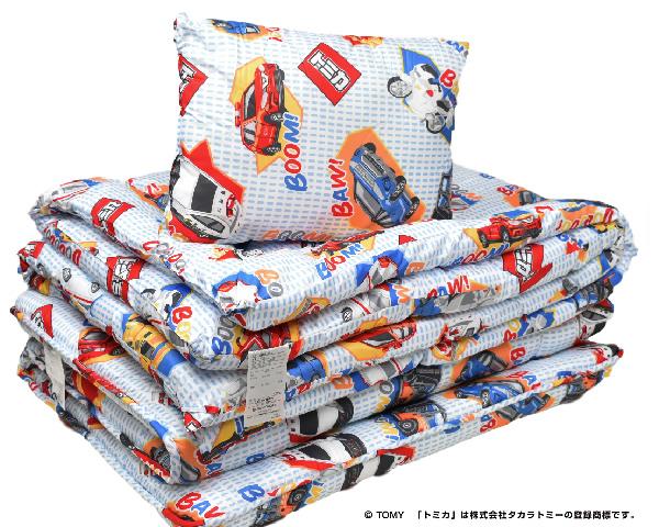 安値 1588-78025 西川のジュニアふとんセット 世界の人気ブランド 合繊組布団3点セット トミカAZ
