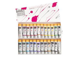 リキテックス・アクリルソフト絵具伝統色セット(6号チューブ) 24色