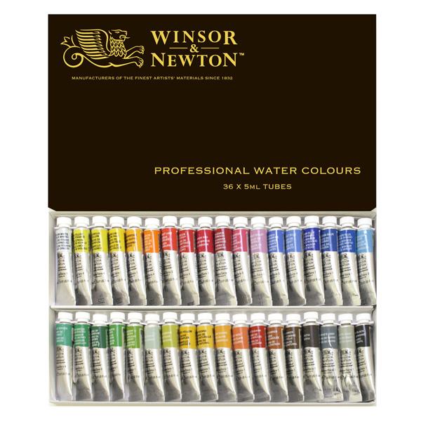 ウィンザー&ニュートン水彩絵具セット 36色セット