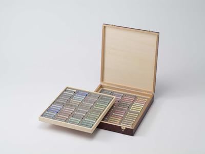 ラウニー ソフトパステル 128色木箱セット