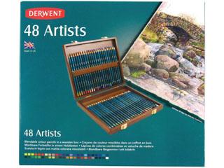ダーウェント・アーティスト色鉛筆 48色ウッドボックス