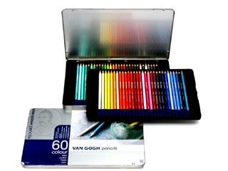 ヴァンゴッホ・色鉛筆 60色セット メタルケース入