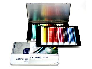 ヴァンゴッホ・水彩色鉛筆 60色セット メタルケース入