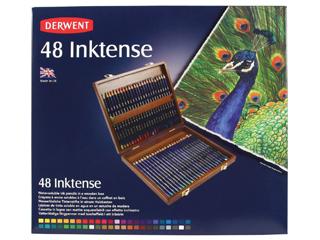 ダーウェント・水彩色鉛筆 インクテンス 48色ウッドボックスセット