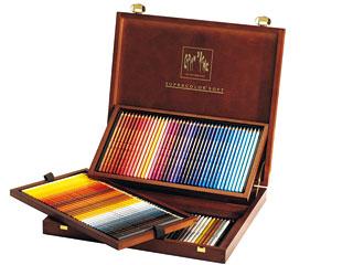 カランダッシュ 水溶性色鉛筆 スプラカラーソフト 120色セット(木箱入)