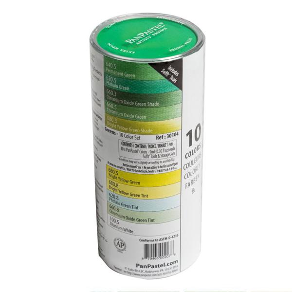 パンパステル 10色セット グリーン