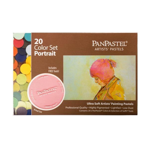 画材 売れ筋 画材セット パステル パンパステル 超歓迎された 20色セット ポートレイト セット