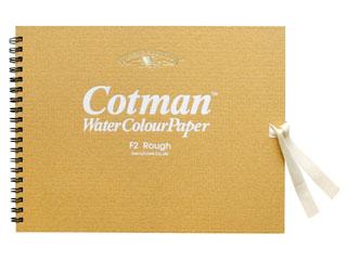 画材 スケッチブック 水彩紙 水彩紙スケッチブック 粗目 F2 NEW売り切れる前に☆ WN コットマン スピード対応 全国送料無料