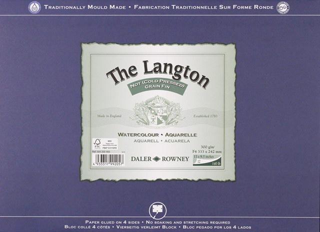ラングトン(ブロック) 中目(パルプ100%中性紙)F10 300g 12枚