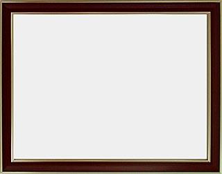 アルミ製デッサン額HVM オーク色フレーム(ガラス付) 半切