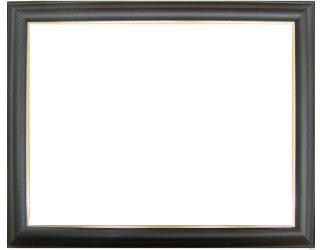 アルミ製デッサン額フレ ブラックレザー (ガラス付)全紙