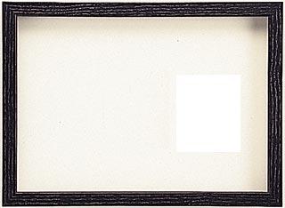 木製デッサン額 ♯10514 ブラック色フレーム(ガラス付) 全紙