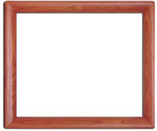 木製デッサン額 香 丸型 朱色フレーム(アクリル付) 大全紙