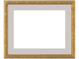 木製デッサン額 MS160 金箔色フレーム(マット・アクリル付) 三三