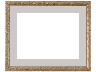 木製デッサン額 MS160 銀箔色フレーム(マット・ガラス付) 半切