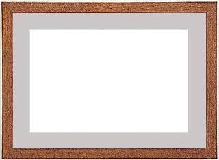 木製デッサン額 ♯10514 オーク色フレーム(マット・ガラス付) 半切