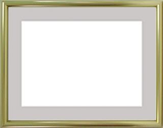 アルミ製デッサン額IC ゴールド色フレーム(マット・アクリル付) 小全紙