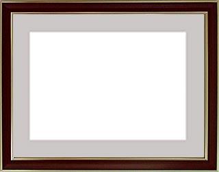 アルミ製デッサン額HVM オーク色フレーム(マット・アクリル付) 全紙