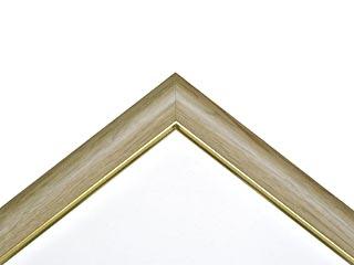 木製仮縁フリーフレームB型 ナチュラル色フレーム(面金ゴールド)P-80