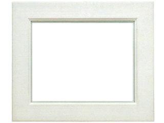 木製油縁A263 ホワイト色フレーム(アクリル付) F6:陶芸.com/e-画材.com 店