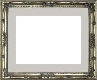 木製デッサン額 デコール 銀箔フレーム(マット・ガラス付) 三三