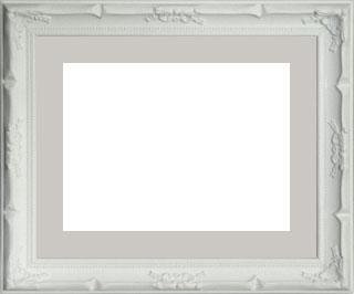 木製デッサン額 デコール ホワイトフレーム(マット・アクリル付) 大衣