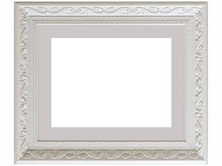 樹脂製デッサン額 SF410 ホワイト色フレーム(マット・アクリル付) 大全紙