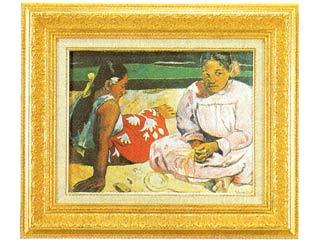 タヒチの女(浜辺にて)(ゴーギャン) F6号