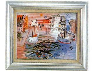 【画材 絵画 名画】  帆船のある港(デュフィ) P10号